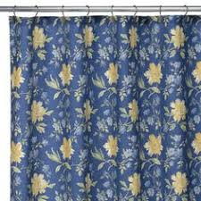 Shower Curtains Ebay Laura Ashley Sophia Fabric Shower Curtain Blue And Whit