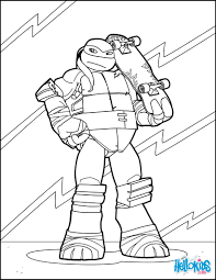 ninja turtle with skateboard coloring pages hellokids com