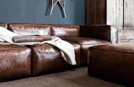 big sofa leder bruine lederen zetel exclusief groot formaat kwaliteit cognac