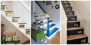creative ideas to decorate home captivating painted stairs design ideas eight colourful staircase