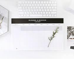 Weekly Desk Pad So Chic Desktop Weekly Planner Pad Undated Calendar Desk Pad Organizer
