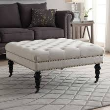 coffee table extra large footstool coffee table tufted ottoman