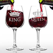 cool wine gifts king and wine glass gift set 12 75 oz ea