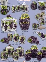 grape kitchen canisters apples fruit ceramics canisters