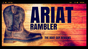 ariat rambler pull on steel toe the boot guy reviews youtube