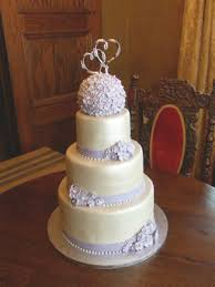 wedding cake lavender simple lavender and ivory wedding cake cakecentral