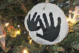 diy flour u0026 salt handprint christmas ornament