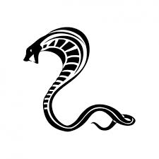 black ink tribal cobra snake tattoo stencil