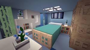 Minecraft Interior Design Bedroom Minecraft Modern Cool Blue Bedroom Design Intended For