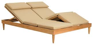 Sutherland Outdoor Furniture Contemporary Chaise Longue Wooden Garden Double Classic By