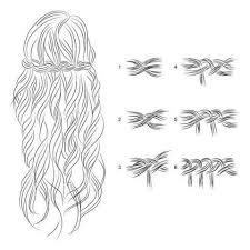 Frisuren Lange Haare Wasserfall by 33 Besten Haare Bilder Auf Anleitungen Haarknoten Und