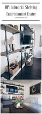 Diy Industrial Furniture by Diy Industrial Shelving Entertainment Center Home Pinterest