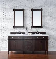 contemporary 72 inch double sink bathroom vanity mahogany finish