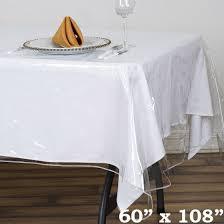 clear vinyl table protector balsacircle clear plastic vinyl tablecloth protector table cover