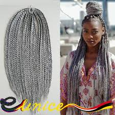 ombre human braiding hair 18 synthetic crochet braid hair 3x box braids hair human braiding