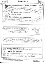 using commas worksheets worksheets
