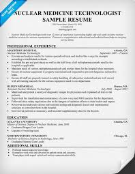 Resume Sample For Doctors by Nuclear Medicine Technologist Resume Free Resume Http