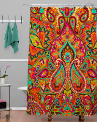 Deny Shower Curtains Paisley Shower Curtain Vineyard Paisley Shower Curtain Black
