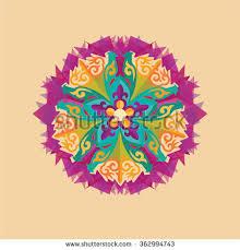 vector kazakh ornament stylized bird stock vector 362994743