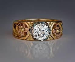 fashion mens antique diamond rings vintage diamond menu0027s ring