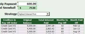Spreadsheet For Paying Debt Free Debt Snowball Spreadsheet