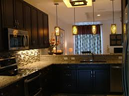 Kitchens With Backsplash Tiles by Kitchen Specs Espresso Cabinets Granite Countertops Glass