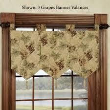 Stylish Kitchen Curtains by Grommet Valance 50 U0027 U0027x16 U0027 U0027 Waverly Folk Damask Lemondrop Grey Tan