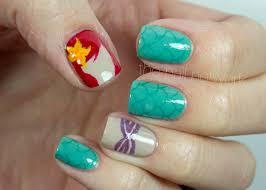 the nail network disney princess nail art series ariel fish