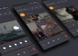 theme nova launcher android darkdessert theme for klwp v1 0 android themes live wallpapers