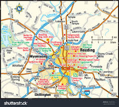 Reading Pennsylvania Map by Reading Pennsylvania Area Map Stock Vector 146287223 Shutterstock