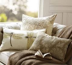 Pottery Barn Lumbar Pillow Covers Luxe Dragonfly Embroidered Lumbar Pillow Cover Pottery Barn