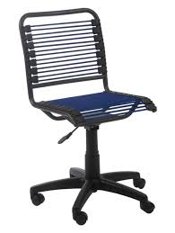 furniture adjustable black bungee cord rolling office chair