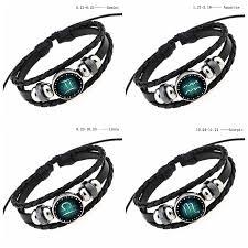 leather bracelet girl images 2018 hot 12 constellation bracelet men snap charm leather jpg
