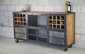 Rustic Bar Cabinet Industrial Reclaimed Wood And Steel Liquor Cabinet Modern