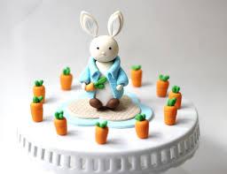 rabbit cake fondant rabbit cake topper set fondant bunny cake topper