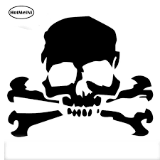 hotmeini 12 7 10 5cm car stickers skull cross bones pirate