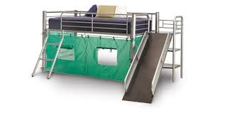Bunk Bed With Slide Metal Loft Bed With Slide