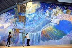 charleston gazette mail pulitzer prize winning west virginia pastor nearly done with 85 foot mural