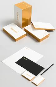 Minimal Design Business Cards Minimalist Design Gold Edge Painted Business Card Cardobserver