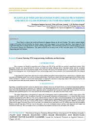 Plant Disease Journal - iaetsd jaras plant leaf disease diagnosis using image processing