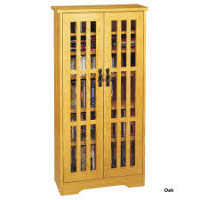 Cd Storage Cabinet With Doors by Leslie Dame Cd Storage Cabinet With Glass Doors Oak Walnut Or
