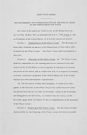 founding documents of the peace corps national archives