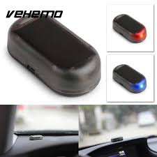security led lights car car auto security dummy warning anti theft flash flashing alarm led