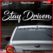 jdm sticker rear window stay driven car decal windshield sticker custom window graphic