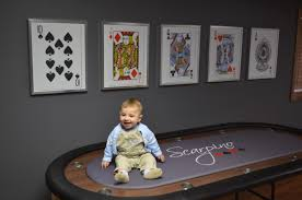 brady loves our poker room i designed the poker table top and