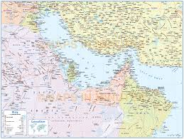 Country Maps Digital Vector Deluxe Gulf Region Country Political Map Including