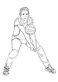 wisconsin volleyball player coloring sports awesome