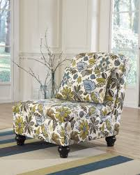 ashley furniture home theater seating ashley 2550046 hariston armless accent chair floral fabric upholstery