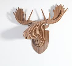 Christmas Moose Home Decor Buy Europe Style Diy Assembly Carved Wooden Reindeer Head Hanging