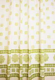 Cottage Shower Curtains White Olive Green Geometric Gypsy Shower Curtain